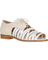 Band of Outsiders Strappy Lace-Up Derbys - Lyst