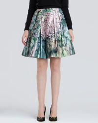 Ted Baker Skirt - Ovald Glitch Floral Print Full - Lyst
