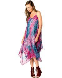 Wendy Bellissimo - Maternity Printed Handkerchief-hem Dress - Lyst