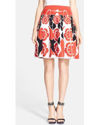 Alexander McQueen Women'S Intarsia Knit Skirt - Lyst