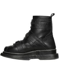 KTZ - 50mm Buckle Leather Boots - Lyst