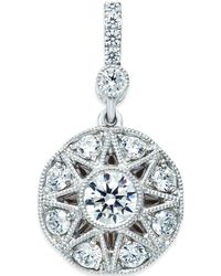 Marchesa Diamond (3/4 Ct. T.W.) Flower Pendant In 18K White Gold - Lyst