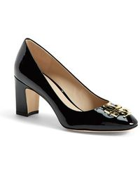 Tory Burch 'Raleigh' Patent Leather Pump - Lyst