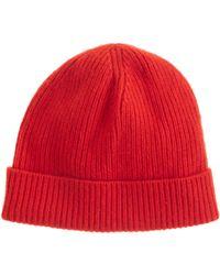 J.Crew Red Cashmere Hat - Lyst