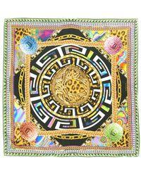 Versace Psychedelicprint Silk Scarf - Lyst