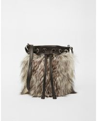 Echo - Faux Fur Cross Body Bag - Lyst