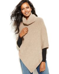 Eileen Fisher Sleeveless Turtleneck Poncho - Lyst