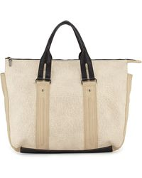 French Connection Colorblock Faux Leather Laser Tote Bag - Lyst