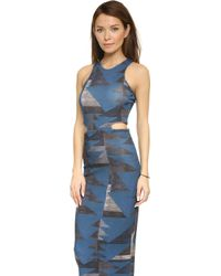 Mara Hoffman Front Cutout Midi Dress - Lyst