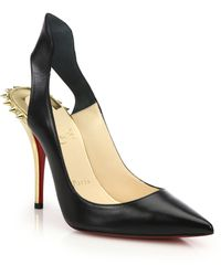 Christian Louboutin Survivita Spiked Leather Slingback Pumps - Lyst