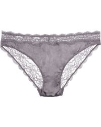Stella McCartney Clara Whispering Stretchsilk Satin and Lace Briefs - Lyst