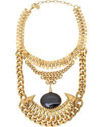 Ela Stone - Ronnie Onyx Collar Necklace - Lyst