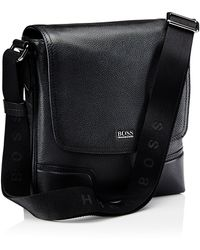 Hugo Boss Madras   Leather Messenger Bag - Lyst