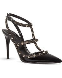 Valentino Rockstud Patent Leather Heels - For Women - Lyst