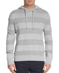 Michael Kors Thermal Stripe Hooded Sweater - Lyst