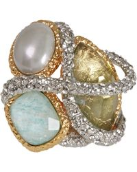 Alexis Bittar Pearl Maldivian Encrusted Vine Ring - Lyst
