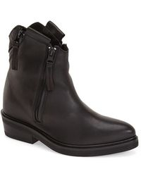 CA by Cinzia Araia - Zip-Detail Leather Ankle Boots - Lyst