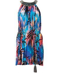 Matthew Williamson Sunset Vine Jersey Embroidered Dress - Lyst