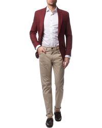 Aquascutum Garment-Dyed Trousers - Lyst