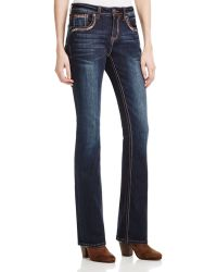 Grace In La - Baroque Cross Bootcut Jeans In Dark Blue - Compare At $87 - Lyst