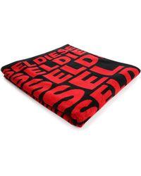 DIESEL | Red Helleri Logo Bath Towel | Lyst