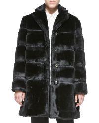 Marc By Marc Jacobs Airglow Boxy Faux-fur Coat - Lyst