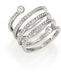 Michael Kors | Park Avenue Glam Pavé Spiral Ring/silvertone | Lyst