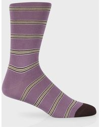 Paul Smith Mauve 'Old-Stripe' Socks - Lyst
