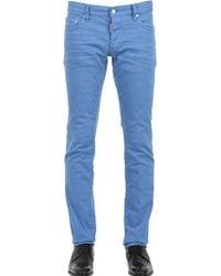 DSquared² 18Cm Slim Fit Stretch Cotton Denim Jeans - Lyst