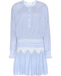 Vanessa Bruno Athé Embroidered Cotton Dress - Lyst