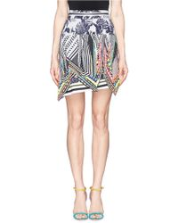 Preen 'Aret' Fluro Bead Graphic Print Asymmetric Skirt - Lyst