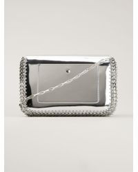 Paco Rabanne Chain Link Metallic-leather Shoulder Bag - Lyst