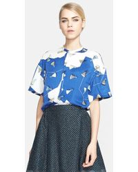 Julien David Print Silk Twill Shirt - Lyst