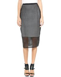 Camilla & Marc Counterfeit Lace Skirt Black White - Lyst
