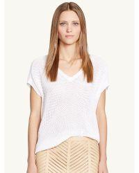 Ralph Lauren Black Label Cotton V-neck Sweater - Lyst