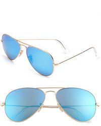 Ray-Ban Women'S 'Original Aviator' 58Mm Sunglasses - Brown - Lyst