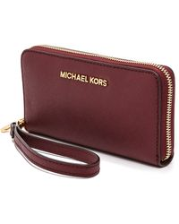 Michael by Michael Kors Large Coin Phone Case Claret - Lyst