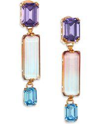 House Of Lavande Oceana Linear Drop Earrings gold - Lyst