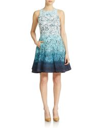 Maggy London - Ombre Fit And Flare Dress - Lyst