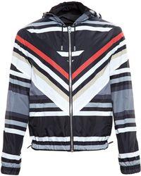 Givenchy Striped Nylon Jacket - Lyst