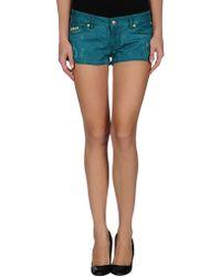 Just Cavalli Denim Shorts - Lyst