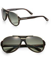 Tom Ford Dimitry Acetate Retro Sunglasses brown - Lyst