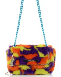 House Of Holland Sausage Roll Purple  Yellow Camo - Lyst