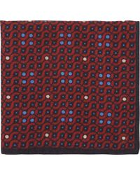 Barneys New York Geometric-Print Pocket Square - Lyst