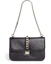 Valentino 'Lock - Medium' Leather Shoulder Bag - Lyst