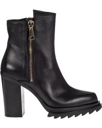 275 Central Block Heel Ankle Boot Black Leather - Lyst
