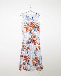 Zucca Printed Cotton Dress white - Lyst