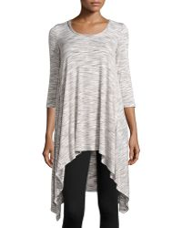 Max Studio Space-Dye High-Low Tunic - Lyst
