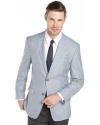 Joseph Abboud Light Blue Herringbone Wool Sport Coat Jacket - Lyst