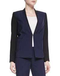 Elie Tahari Evie Colorblock Stretch-wool Jacket - Lyst